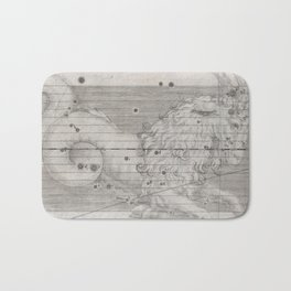 Vintage Capricorn Astrology Constellation Map (1655) Bath Mat