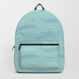 Waves / Tiger (stylized pattern) 29 Backpack