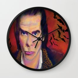 Nick Cave and Blood Roses Wall Clock