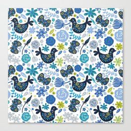 Birds and Flowers Canvas Print