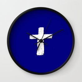 Christian Cross Chalk version Wall Clock