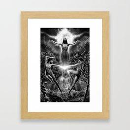 VI. The Lovers Tarot Illustration Framed Art Print