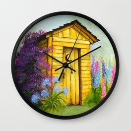 Out in Spring Wall Clock