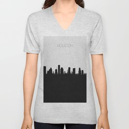 City Skylines: Houston Unisex V-Neck