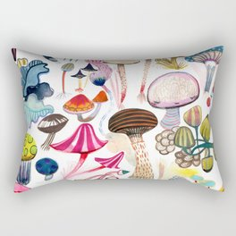 Mushroom Collection - b r i g h t s Rectangular Pillow