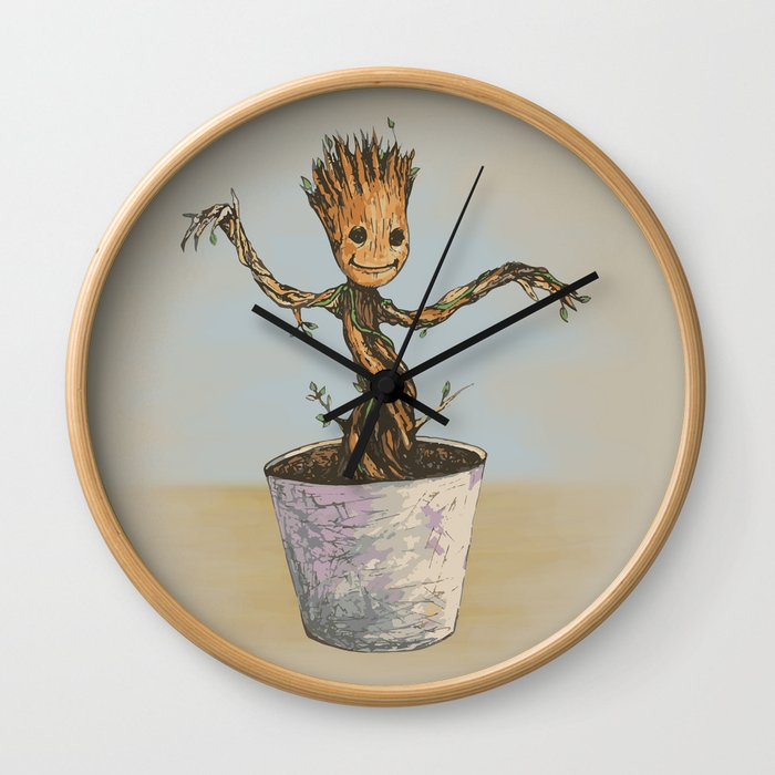 Baby Groot Wall Clock