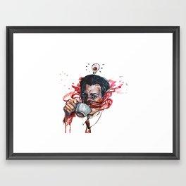Coop Loves Coffee Framed Art Print