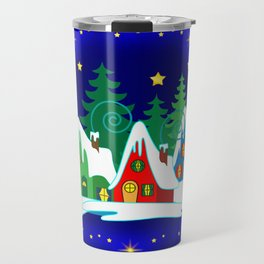 Home for the Holidays Picture,Christmas and Holiday Fantasy Collection Travel Mug