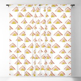 Pink and Yellow Boho Triangles Blackout Curtain