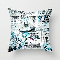 movie posters Throw Pillows featuring posters by Renee Ansell