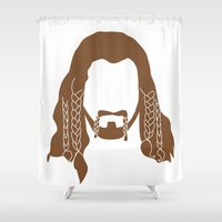 nori Shower Curtains featuring Fili's Beard by Paranoia mit Sahne
