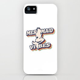 Mermaid Vibes Retro 3D iPhone Case