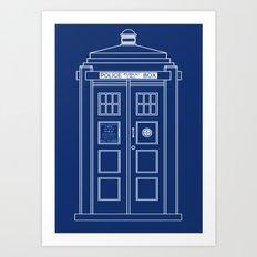 TARDIS Blueprint - Doctor Who Art Print
