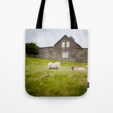Sheep blown by the wind Tote Bag
