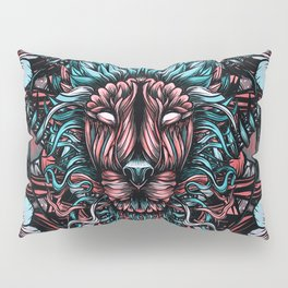 Lion and flowers Pillow Sham