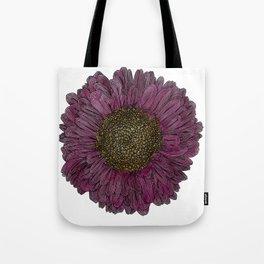 Pink Flower Drawing/ Illustration Tote Bag