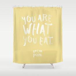 Pizza / Poster, scandinavian, art print, drawings, paintings, type, illustration, motivation Shower Curtain