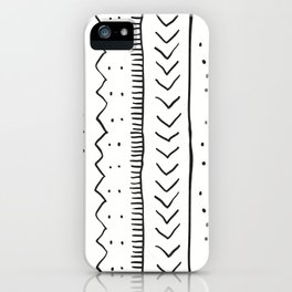 Moroccan Stripe in Cream and Black iPhone Case