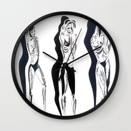 hug the shadows  Wall Clock