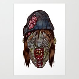 Heads of the Living Dead Zombies: Long Shore Zombie Art Print