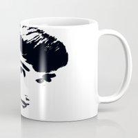 audrey hepburn Mugs featuring Audrey Hepburn by Saundra Myles