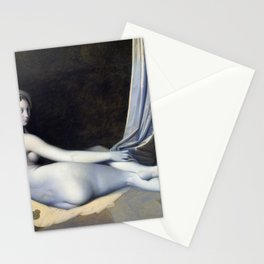 12,000pixel-500dpi - Odalisque in Grisaille - Jean-Auguste-Dominique Ingres Stationery Cards