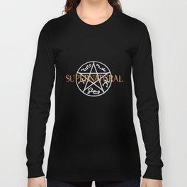 Supernatural grey orange Long Sleeve T-shirt