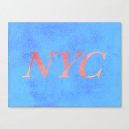 New York Print Canvas Print