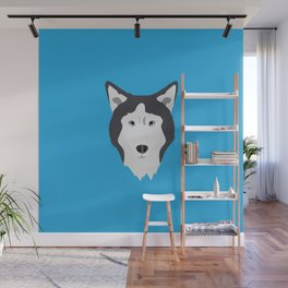 Lance Bright Blue Wall Mural