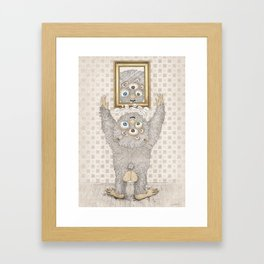 My best friend Monster Framed Art Print