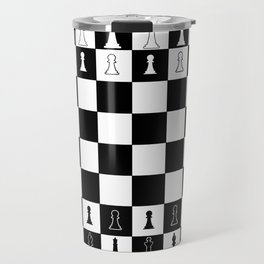 Chess Board Layout Travel Mug