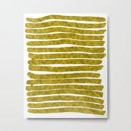 Gold Lines Metal Print