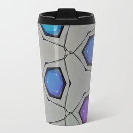 Minimal Aqua Magenta Circle Gradient Travel Mug
