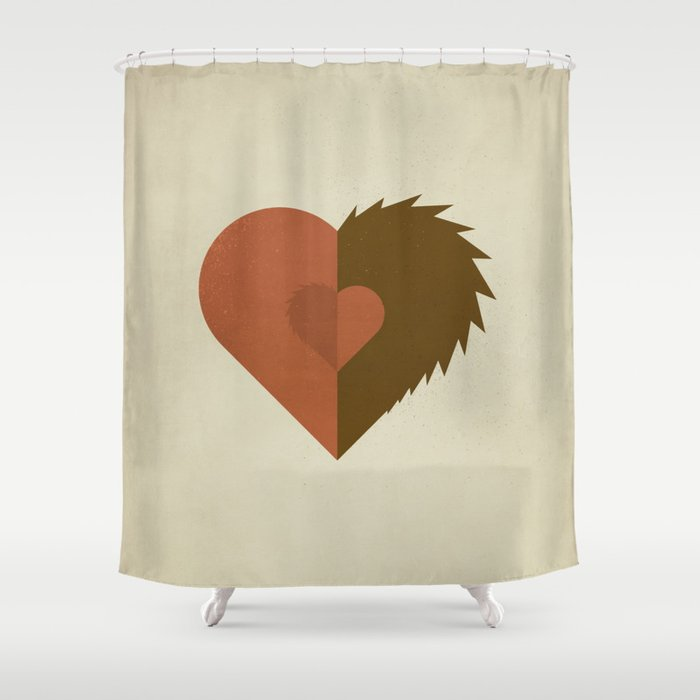 Beauty And The Beast Shower Curtain By Squareinch