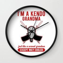 I'm a Kendo Grandma Just Like a Normal Except Way Cooler Wall Clock