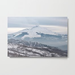 The majesty of Etna volcano Metal Print