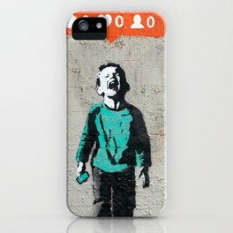 Banksy, social life, likes iPhone Case