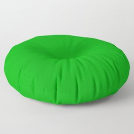 The Future Is Bright Green  - Solid Color Floor Pillow