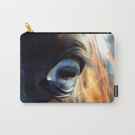 Horse Blue Watch Eye Carry-All Pouch