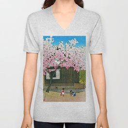 Tokyo Twelve Collection, Atago Mountain, Spring - Digital Remastered Edition Unisex V-Neck