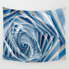Blue Rose Spiral Wall Tapestry