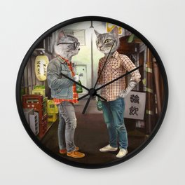 A Cats Night Out Wall Clock