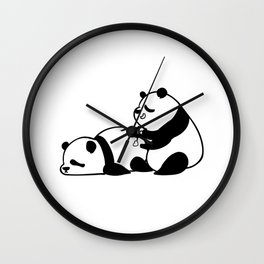 Love Hurts Panda Wall Clock