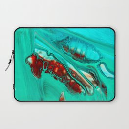 Turquoise abstract Laptop Sleeve