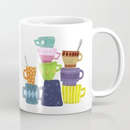 Coffee And Tea Cups And Mugs Stacked High Coffee Mug