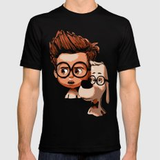 Mr. Peabody & Sherman Mens Fitted Tee Black SMALL