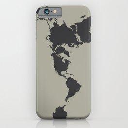 Dymaxion Map - Greys iPhone Case