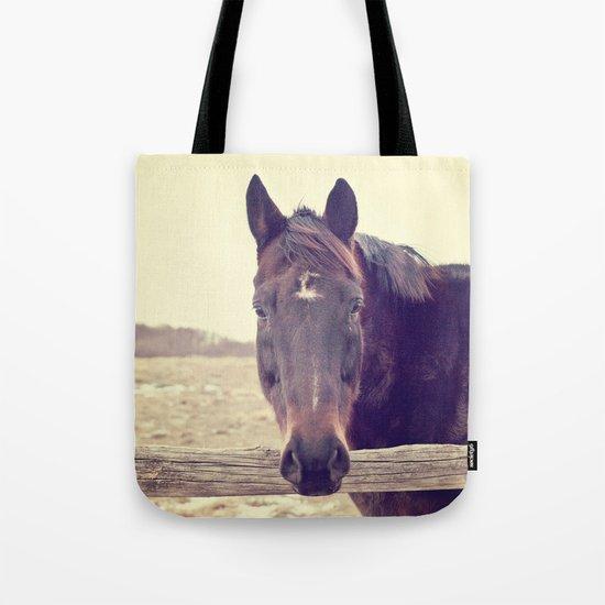 Hello Horse  Tote Bag