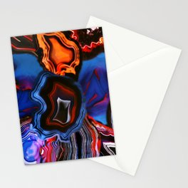 Agate, What springs from Earth dissolves to Earth again Stationery Cards
