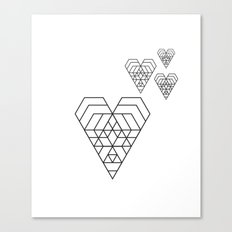 Hex heart Canvas Print
